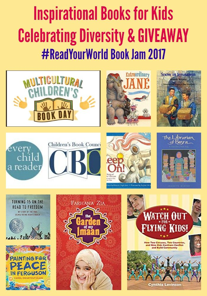 Inspirational Books for Kids Celebrating Diversity & GIVEAWAY