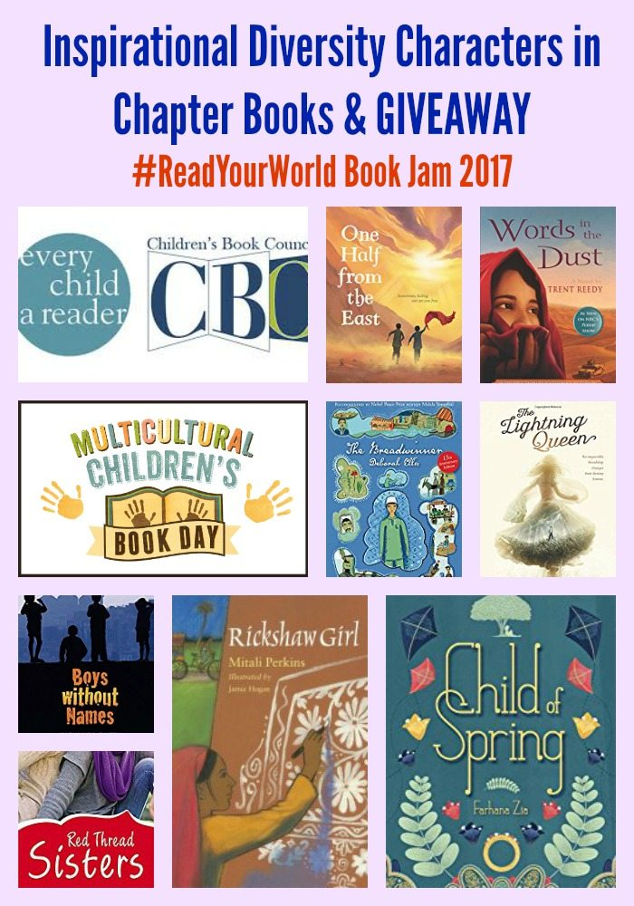 Inspirational Diversity Characters in Chapter Books & GIVEAWAY