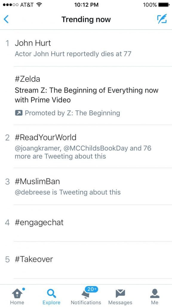 #ReadYourWorld Twitter Party trended on Twitter