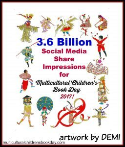 Social media share impressions for Multicultural children's book day