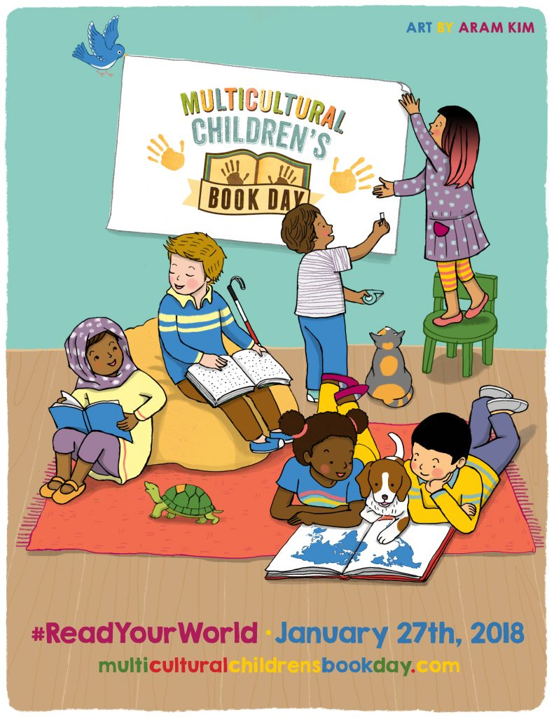 The Official Multicultural Chilren's Book Day 2018 Poster courtesy of author/illustrator Aram Kim
