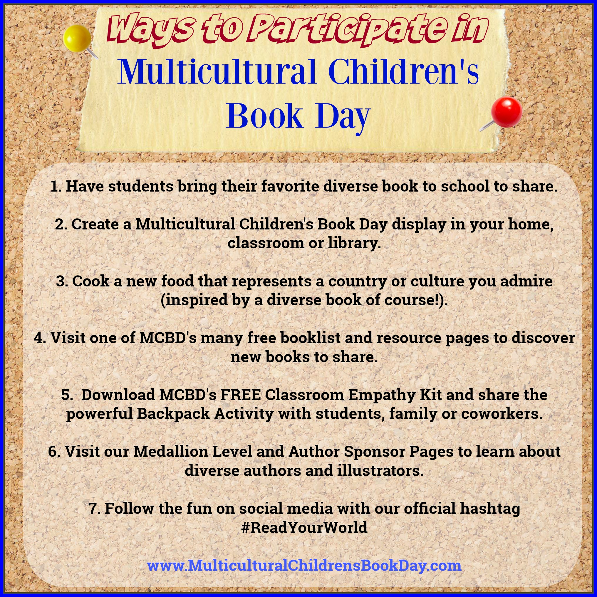 Ways to Participate in Multicultural Children's Book Day