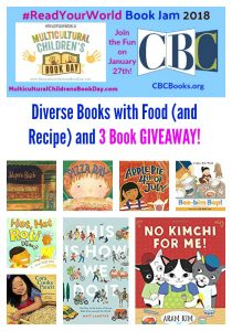 Diverse Books with Food (and Recipe) and 3 Book GIVEAWAY!