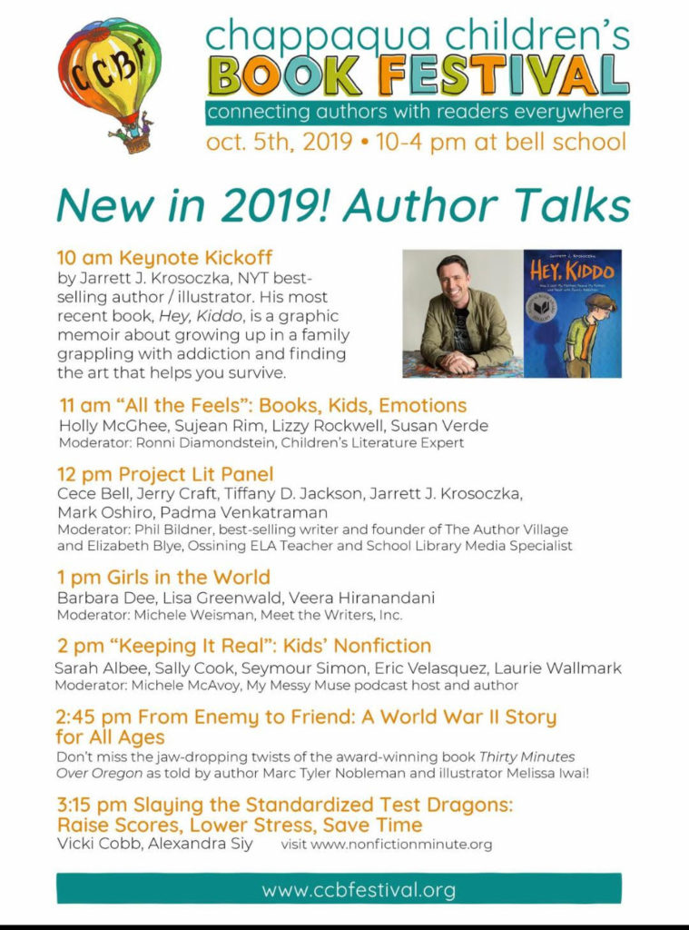Chappaqua Children's Book Festival Author Talks